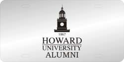 Laser Magic Howard University License Plate Etched