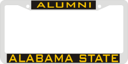 Laser Magic Alabama State University Chrome Frame