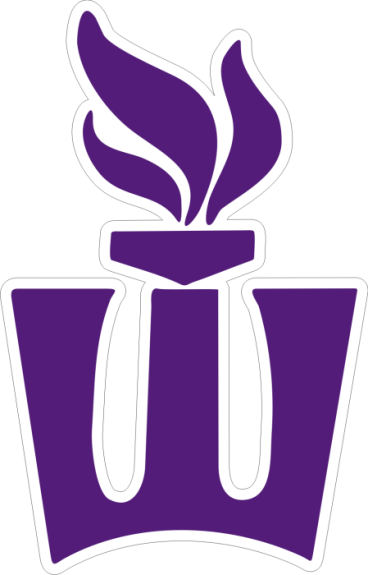 Laser Magic Winona State University Decal A Flaming W