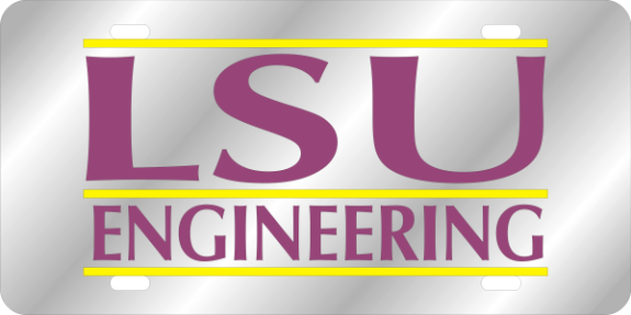 laser magic louisiana state university lsu engineering license plate bar