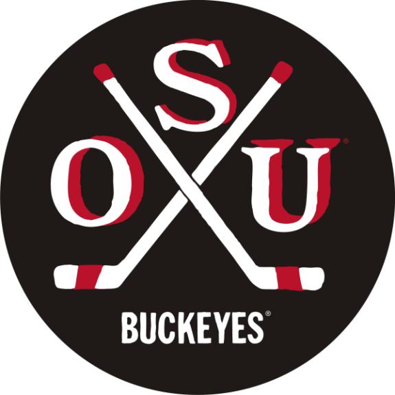 Laser Magic Ohio State University Ohio State Hockey Puck