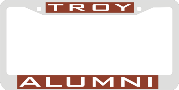 Laser Magic Troy University Troy Alumni Chrome Frame