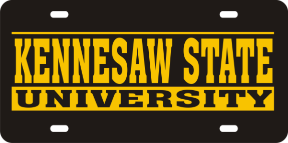 Laser Magic Kennesaw State University License Plate