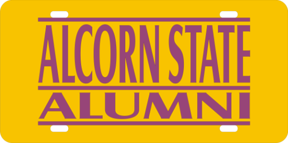 Laser Magic Alcorn State University License Plate