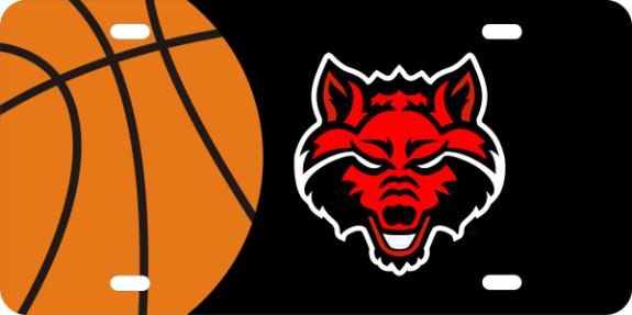 Laser Magic Arkansas State University Red Wolf Logo
