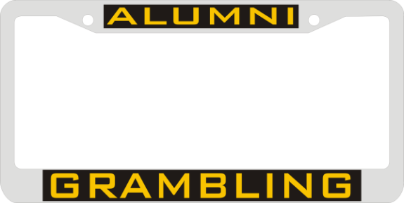 Laser Magic Grambling State University Chrome Frame