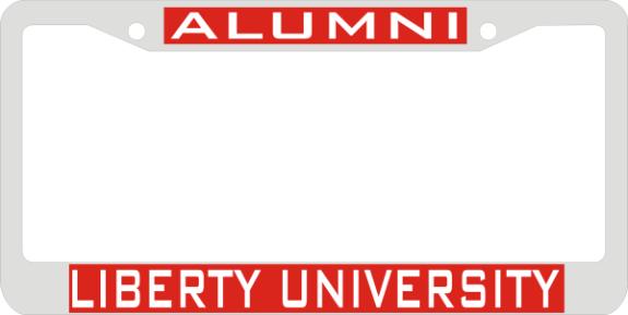 Laser Magic Liberty University Chrome Frame Alumni