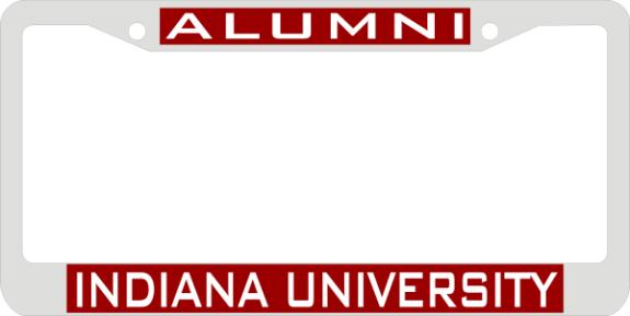Laser Magic Indiana University Chrome Frame Alumni
