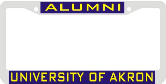 Laser Magic Akron University Of Chrome Frame Alumni