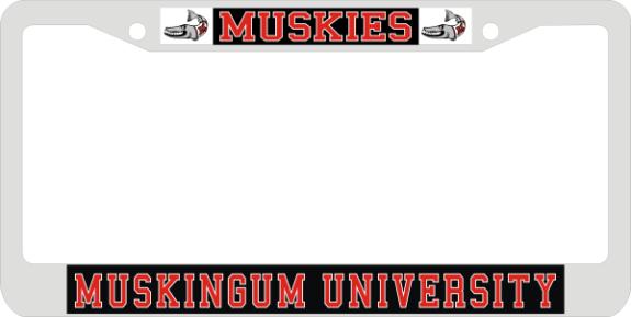 Laser Magic Muskingum University Chrome Frame Uv