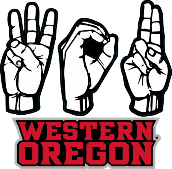 Laser Magic Western Oregon University Decal A Sign